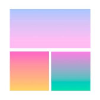 Esfera abstracta degradada de violeta, rosa, azul.