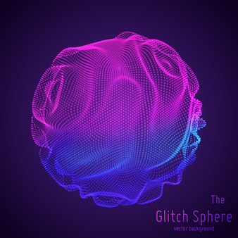 Esfera abstracta de partículas, matriz de puntos.
