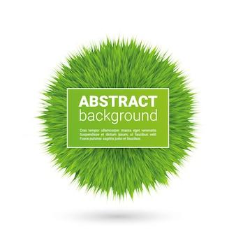 Esfera aislada vector esponjoso verde con plantilla de texto