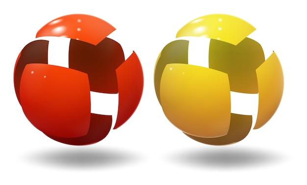 Esfera de alta tecnología, bola. burbuja industrial.