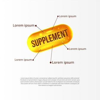 Esfera amarilla átomo molécula aceite