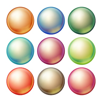 Esfera de cristal redonda.