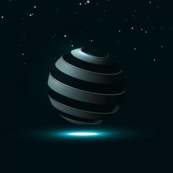 Esfera espiral líneas abstractas