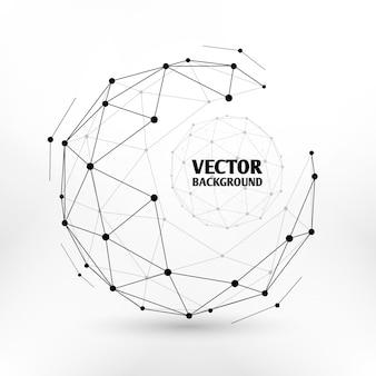 Esfera de estructura metálica rota