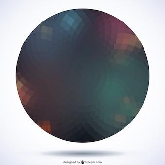 Esfera de fondo oscuro
