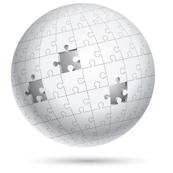 Esfera de globo de rompecabezas