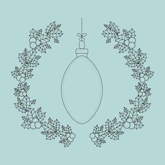 Esfera interior ornamento y rústica hoja icono de la corona