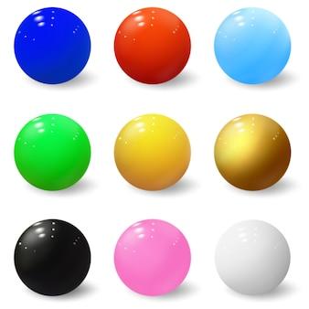 Esferas 3d bolas brillantes burbujas de plástico de colores