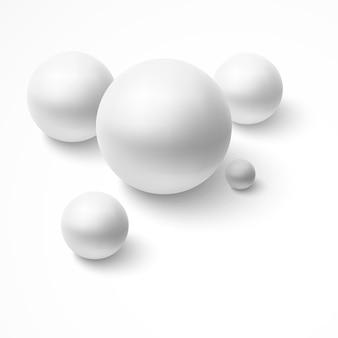 Esferas blancas realistas