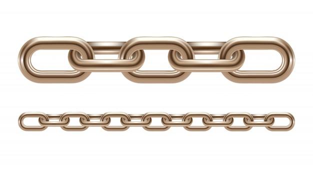 Eslabones de cadena de metal aislados