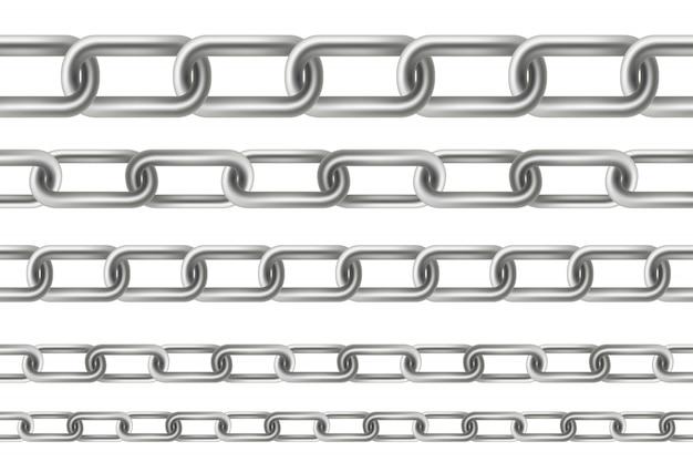 Eslabones colgantes metálicos de metal sin costura.