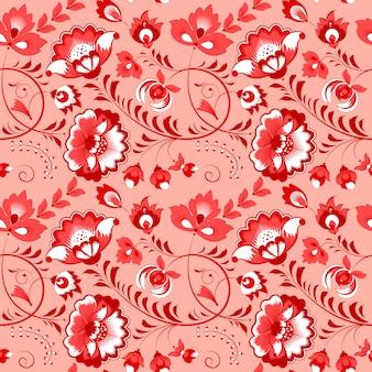 Eslavo patrón floral sin fisuras
