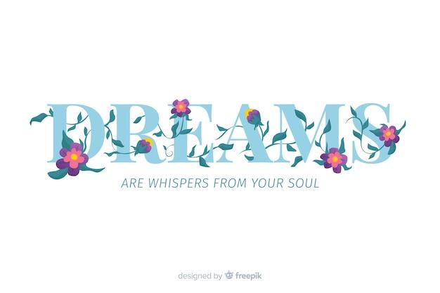 Eslogan con flores