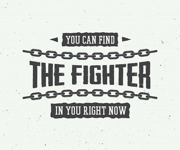 Eslogan motivacional vintage
