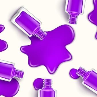 Esmalte de uñas belleza gota de pintura. botella cosmética maquillaje esmalte de uñas o diseño de manicura
