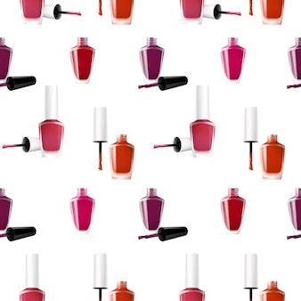 Esmalte de uñas realista de patrones sin fisuras