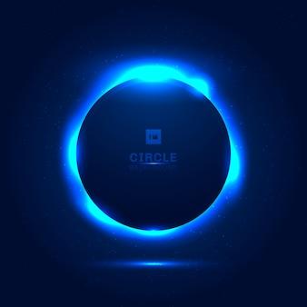 Espacio azul abstracto eclipse solar