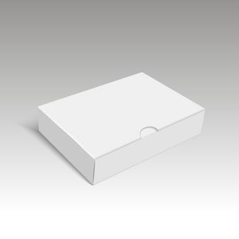 Espacio en blanco de la caja de cartón para el regalo.