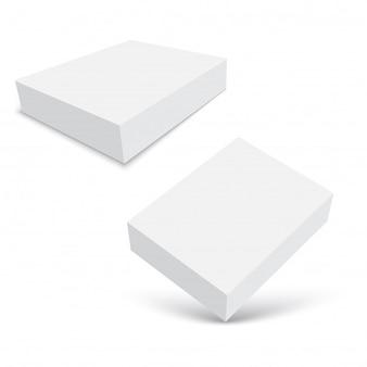 Espacio en blanco de la caja de cartón para el software