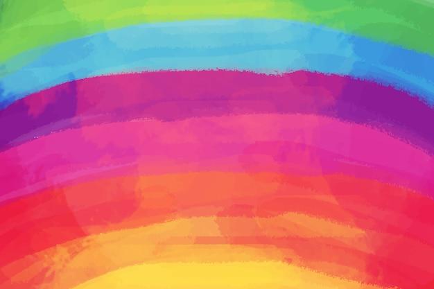 Espacio de copia de acuarela arco iris