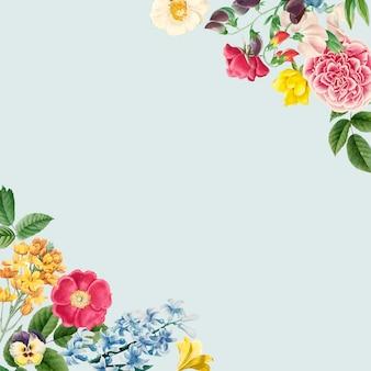 Espacio de copia floral en blanco