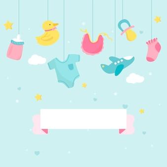 Espacio de copia de tema de ducha de bebé
