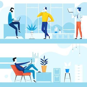 Espacio de coworking con gente creativa