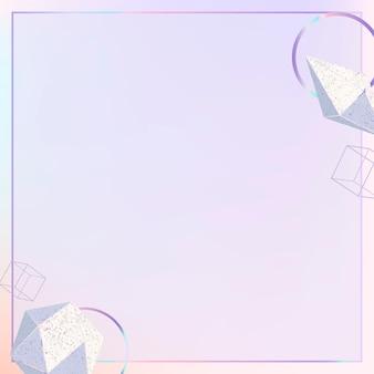 Espacio de diseño de fondo de borde de formas geométricas