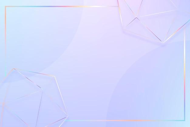 Espacio de diseño de fondo de vector de borde de formas geométricas