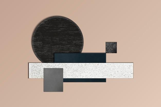 Espacio de diseño geométrico moderno.