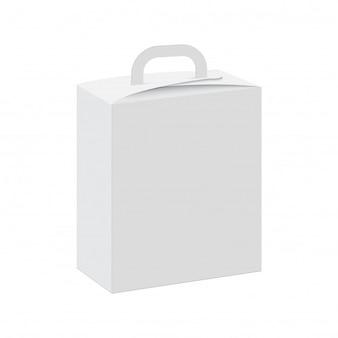Espacio en blanco de la caja de regalo con mango