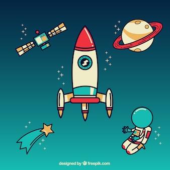 Espacio exterior vector gratuito