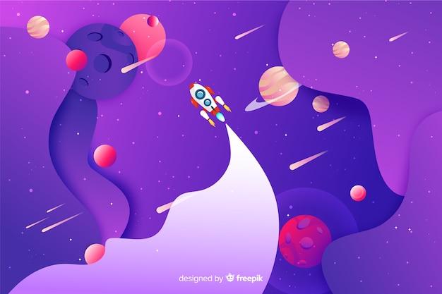 Espacio gradiente con cohete