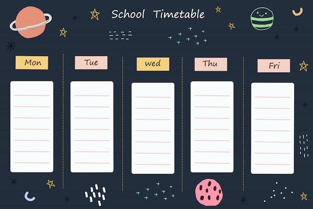 Espacio de horario escolar