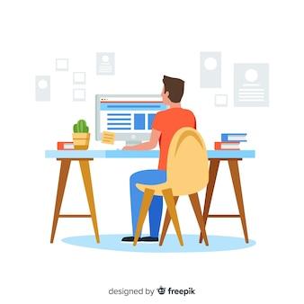 Espacio de trabajo de diseñador gráfico
