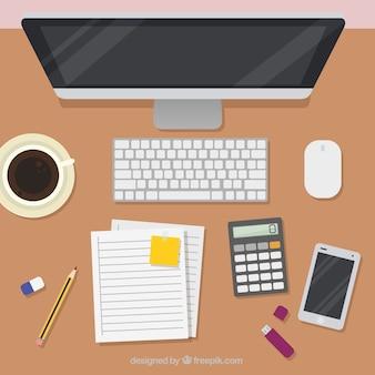 Espacio de trabajo con estilo moderno