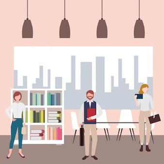 Espacio de trabajo de personas de negocios