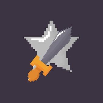 Espada pixelada y estrella