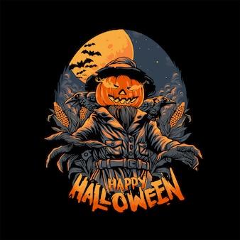 Espantapájaros en halloween