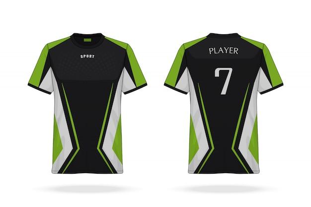 Especificación camiseta deportiva de fútbol con cuello redondo plantilla de jersey