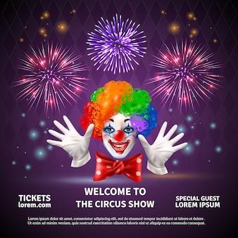 Espectáculo de circo de fuegos artificiales