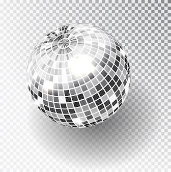 Espejo brillo bola de discoteca ilustración vectorial.