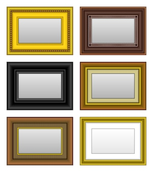 Espejo de foto de marco de imagen. un conjunto de marco de cuadro y espejo.