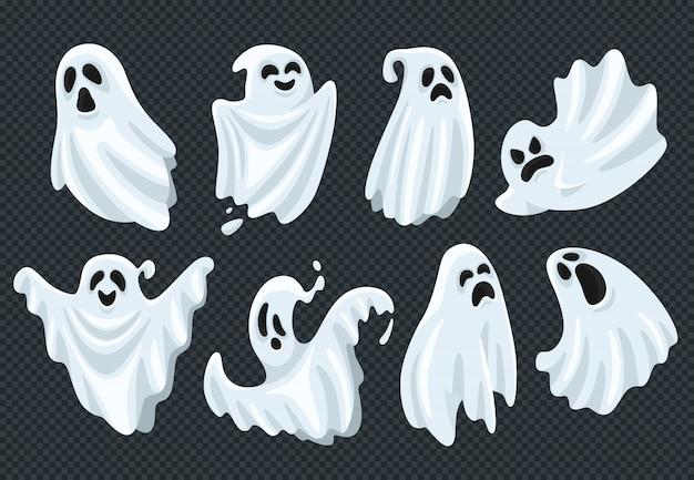 Espeluznante conjunto de fantasmas de halloween