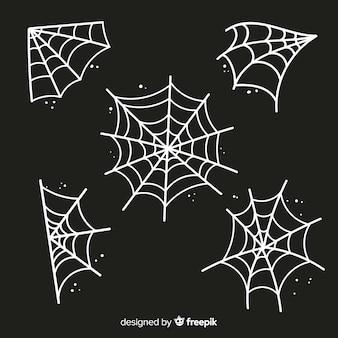 Espeluznante elemento de decoración de telaraña de halloween
