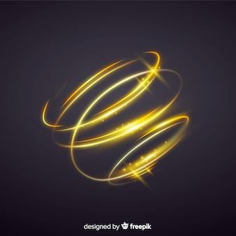 Espiral dorado brillante estilo realista.