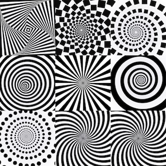 Espiral con efecto vórtice.