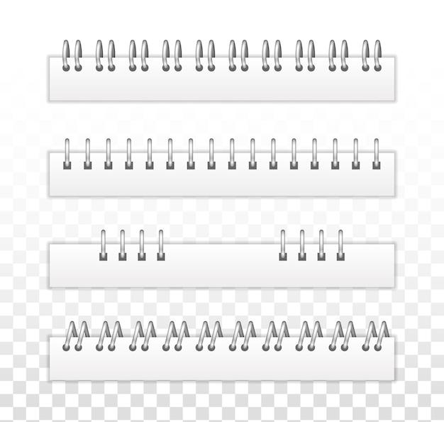 Espiral de hierro para fijar láminas. anillos de cuadernos de encuadernación