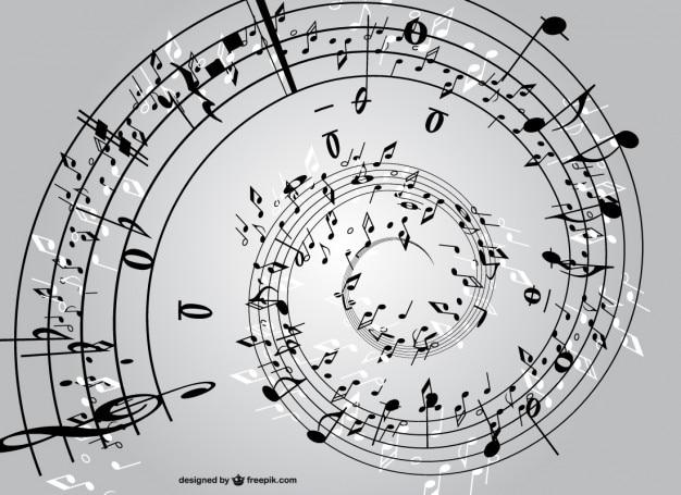 Espiral de notas musicales