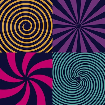 Espiral psicodélico hipnótico, giro, vórtice.